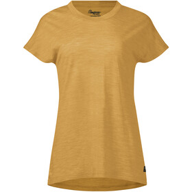 Bergans Oslo Wollen T-shirt Dames, mustard yellow